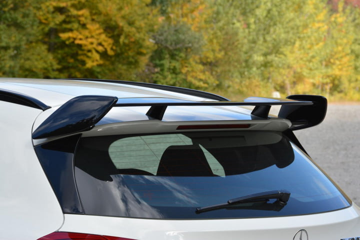mercedes benz gla amg first drive rear spoiler