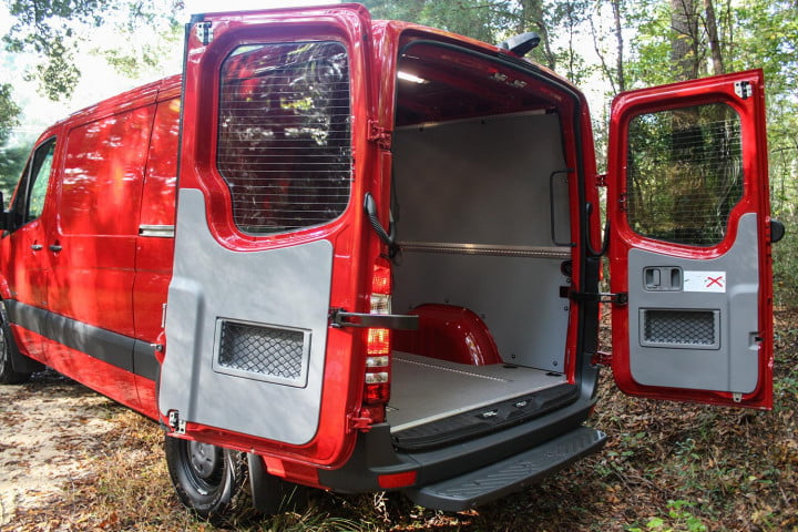 first drive  mercedes benz sprinter back doors open