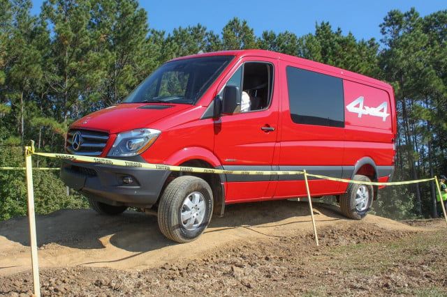 2015 Mercedes-Benz Sprinter driving 1