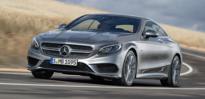 2015 Mercedes S Class Coupe front angle driving