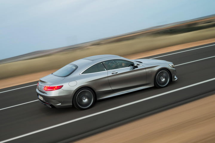 mercedes benz s class coupe left side angle