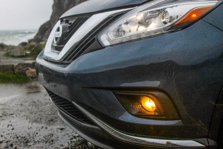 nissan murano first drive review fog light