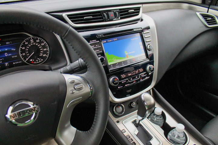 nissan murano first drive review interior dash