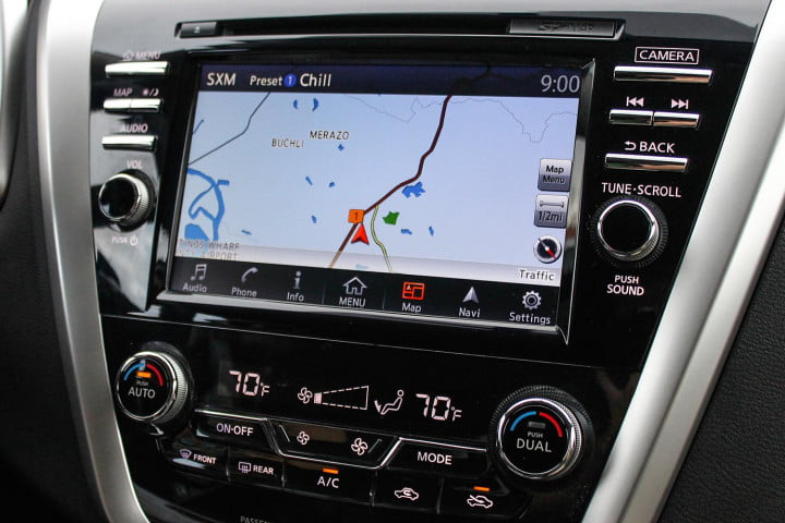 nissan murano first drive review navigation