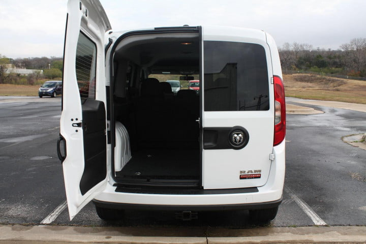 ram promaster city first drive rear door open