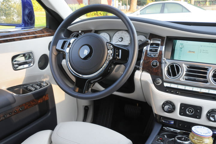 rolls royce ghost review driver side interior