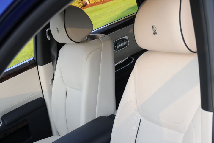 rolls royce ghost review seat detail