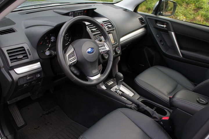 subaru forester xt review subaur interior front