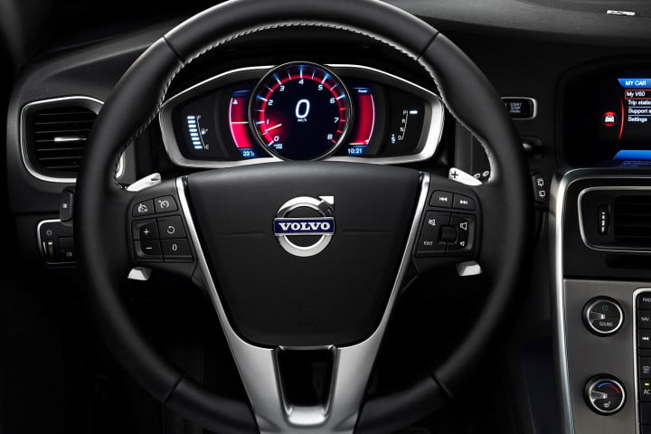 volvo v t drive e review steering wheel
