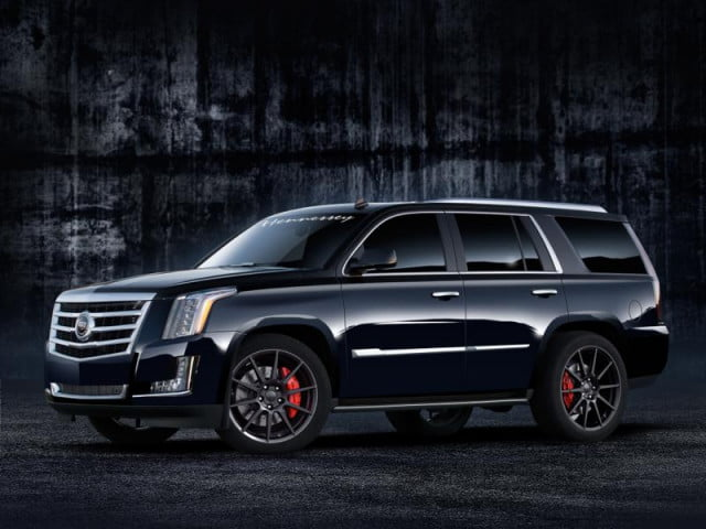 cadillac escalade gets hennessey hpe supercharged upgrade