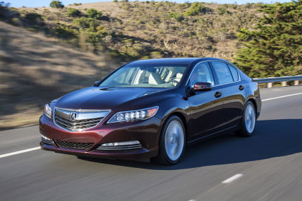 2016 Acura RLX Sport Hybrid driving front side 2
