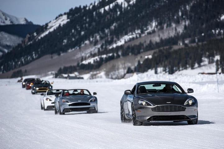aston martin on ice first drive am track