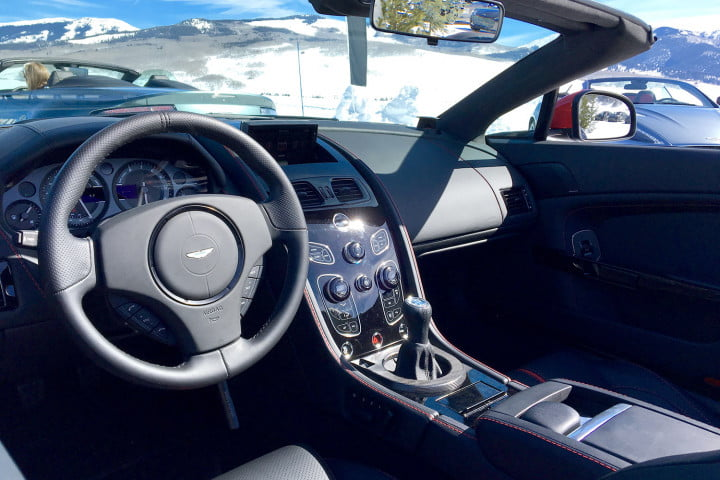 aston martin on ice first drive drivers interior