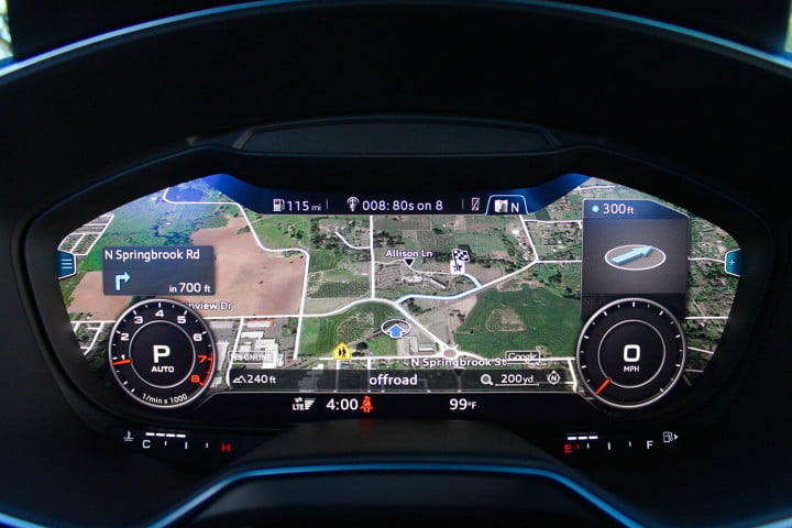 audi tt coupe and roadster first drive dash screen