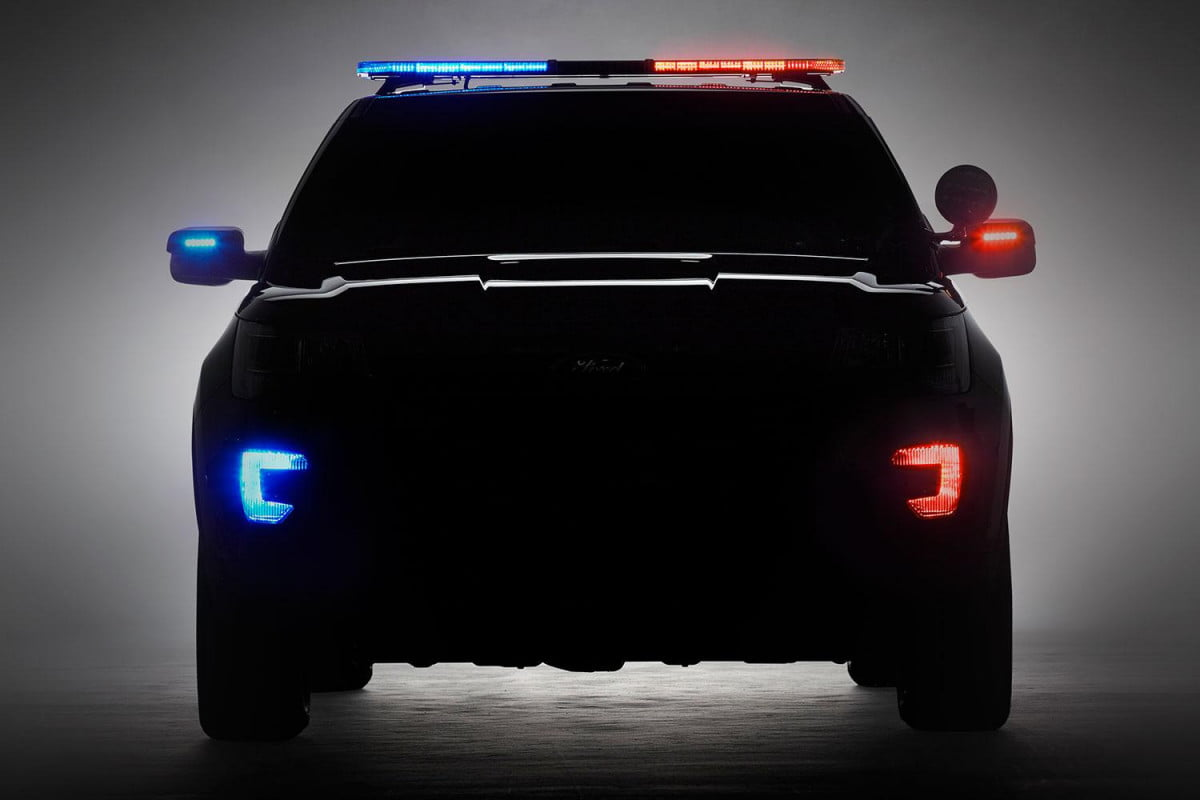 new ford suv interceptor teased for  chicago auto show explorer police