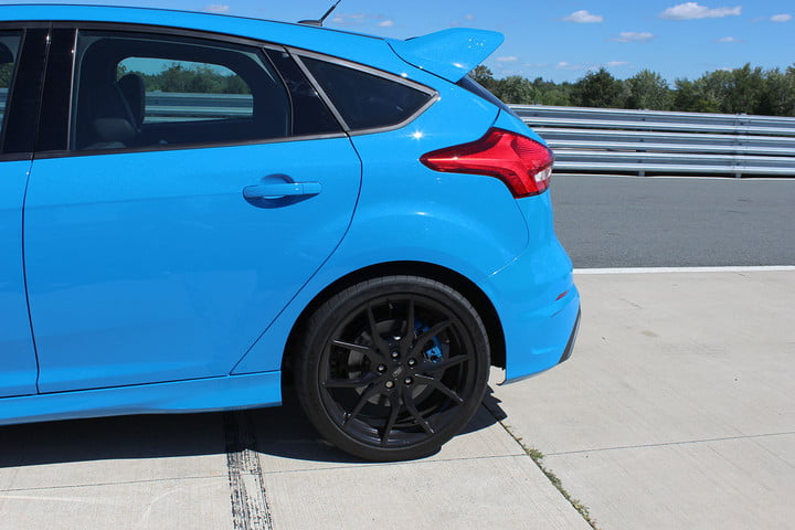 ford focus rs first drive back tire