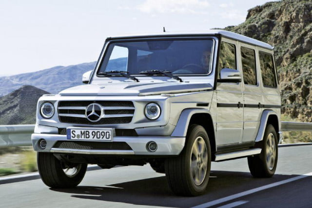 old mercedes benz g class undergoes resdesign first time  years rendering