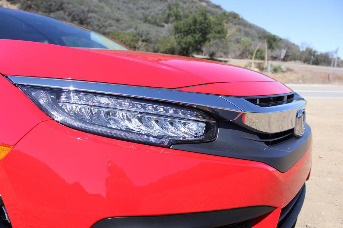 hondas  civic coupe will debut at the los angeles auto show honda headlight side