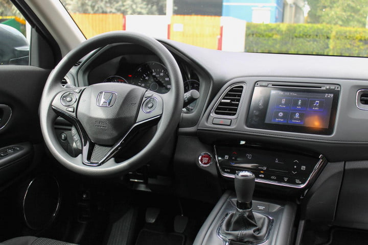 honda hr v first drive review dash