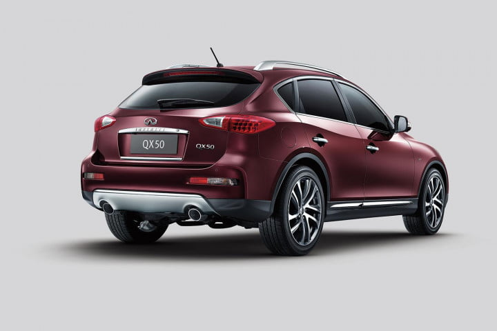 infiniti qx specs pictures performance back angle