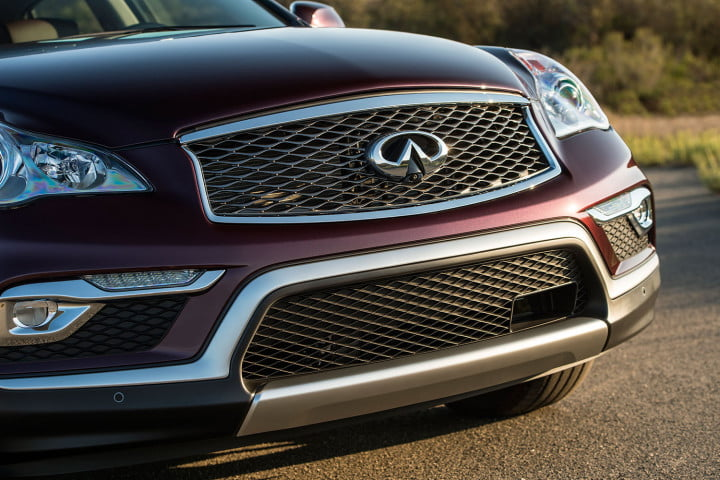 infiniti qx first drive front grill