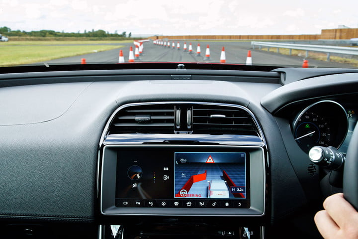 jaguar land rover technology showcase roadwork assist