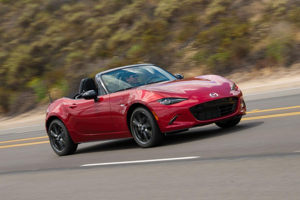 why more horsepower doesnt equal fun  mazda mx miata red side angle driving