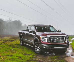 Burly but plush, Nissan'sTitan XD is almost too pretty to get muddy. Almost.