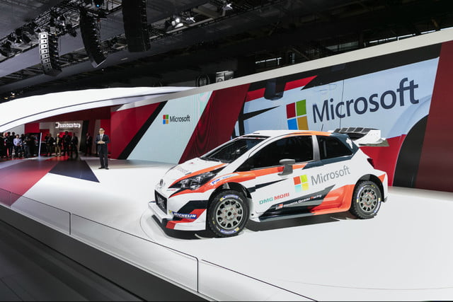 toyota and microsoft team up for wrc  paris ms