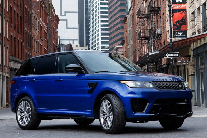 land rover range sport svr first drive parked angle