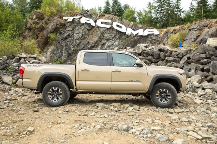 toyota tacoma trd off road first drive right side