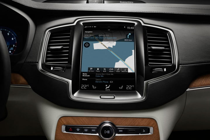 volvo xc first drive touch screen display