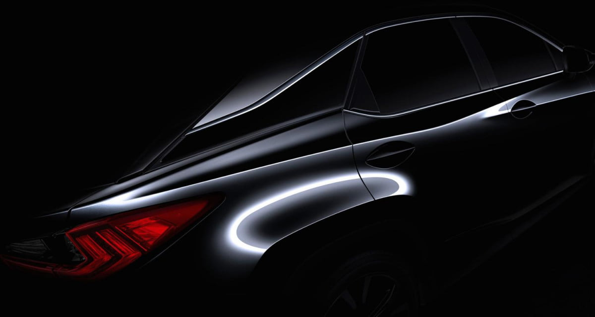 lexus rx confirmed for ny auto show teaser