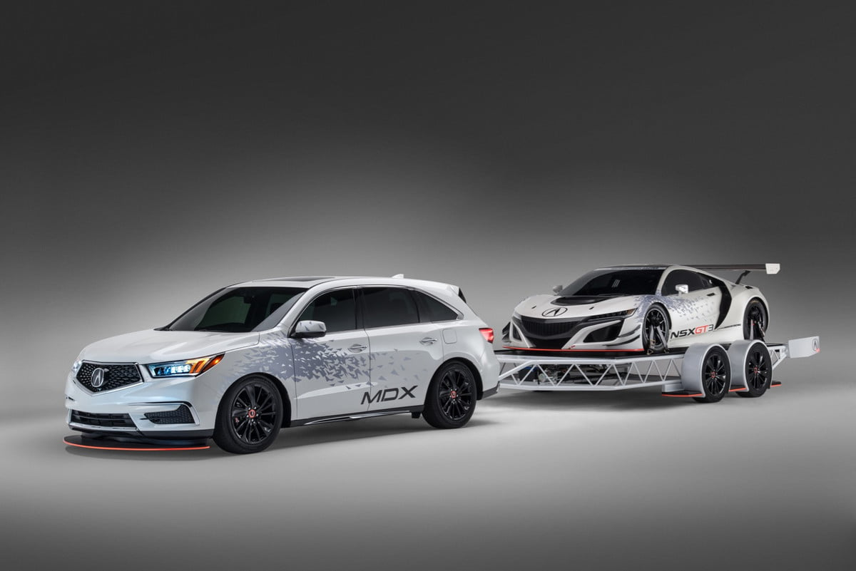 acura mdx and nsx gt at sema