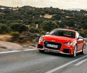 Classy, wild, and a little bit mean, Audi's TT RS is a race car in a business suit