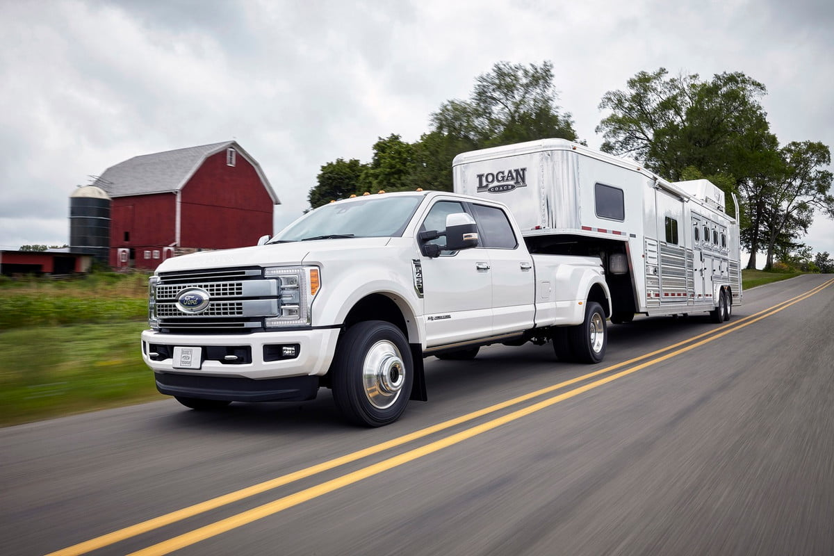 ford super dutys adaptive cruise control can handle a pound trailer f duty