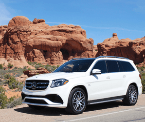 The 577 horsepower Mercedes-AMG GLS63 is a classy way to haul your kids and cargo