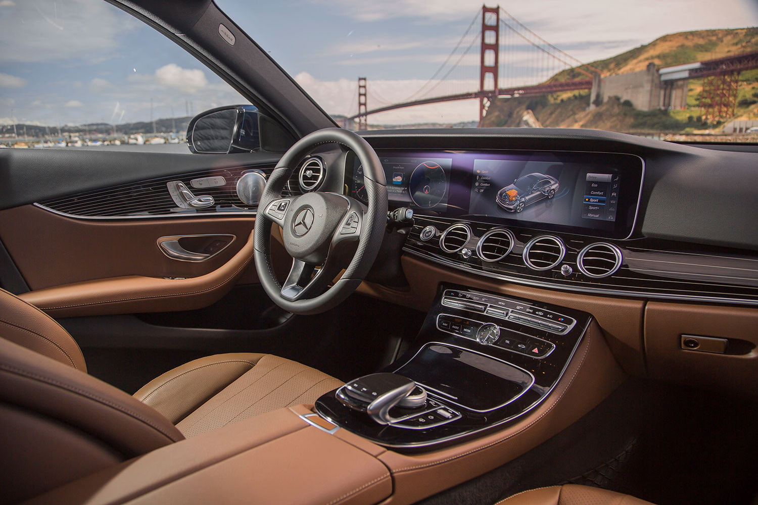 2017 mercedes benz e300 first drive digital trends for Interior mercedes vito