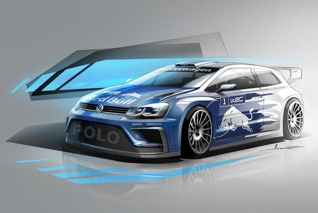 volkswagen polo r wrc news specs performance teaser  sketch