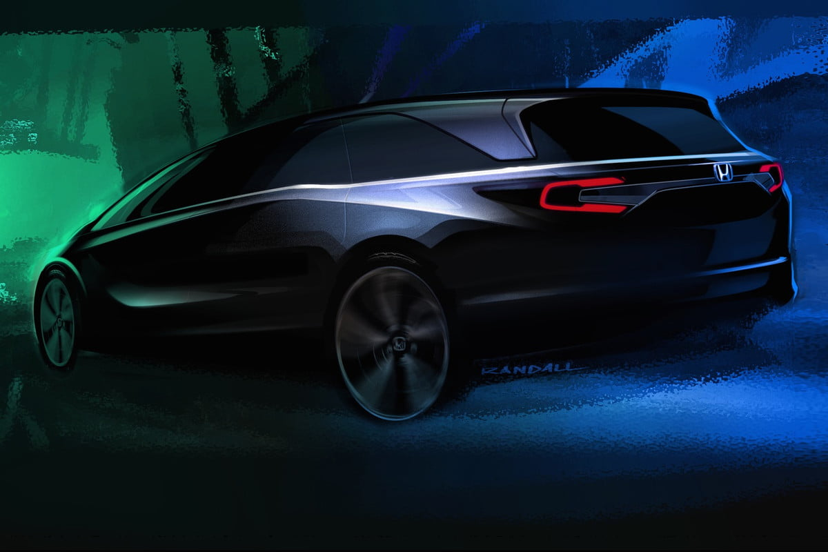 honda odyssey to debut at detroit auto show teaser