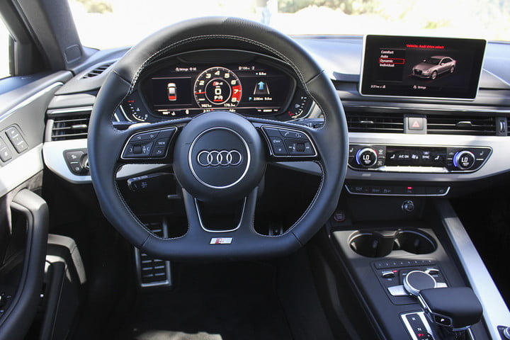 audi s first drive interior