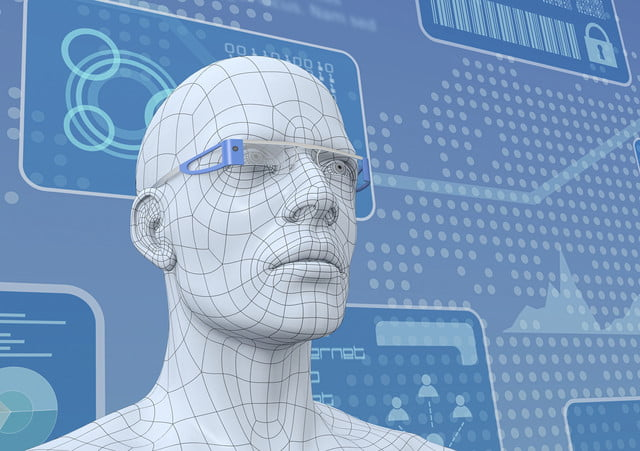 team gives cameras selective memory  one d model of a human head with pair smart glasses render