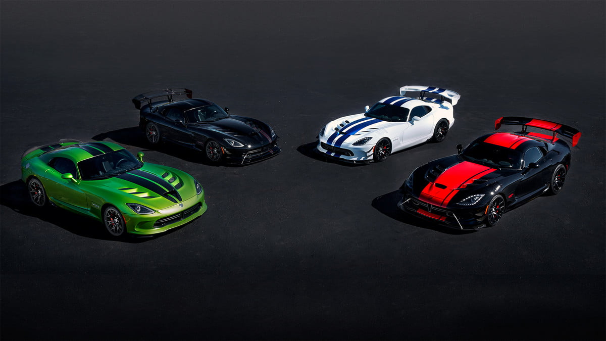 dodge viper to end production with special editions  th anniversary limited edition vipers