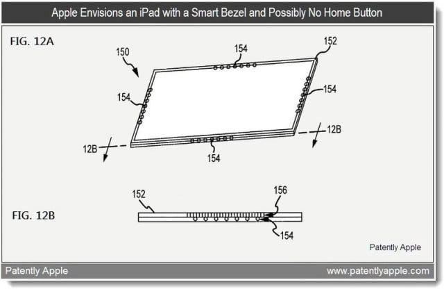 apple patent smart bezel possibly no home button feb