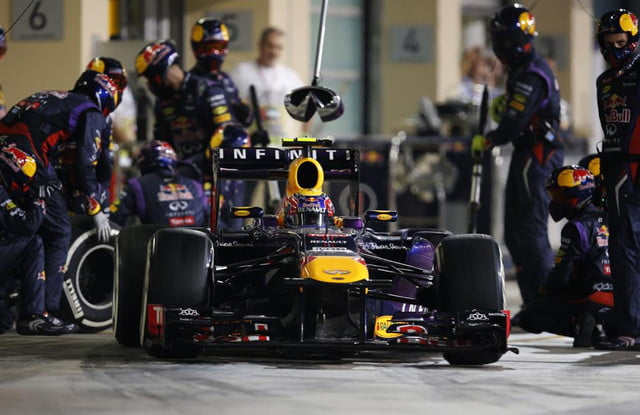 infiniti is unhappy with vettels f  dominance red bull racing at abu dhabi grand prix