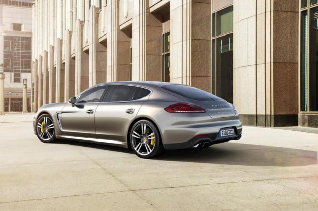 2014 Porsche Panamera Turbo S rear three quarter