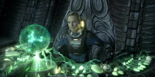 Prometheus-- Michael Fassbender as David