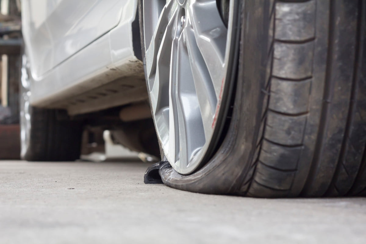 how to fix a flat tire on your car  burst