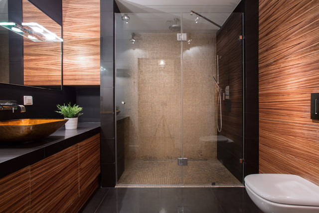 high tech bathroom renovations  picture of wooden details in luxury