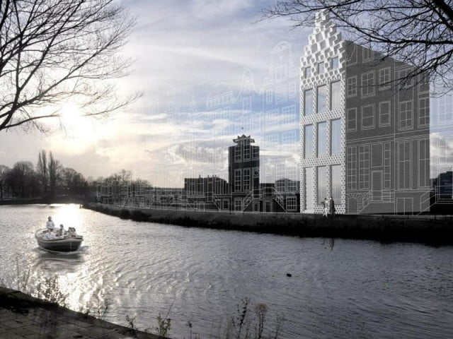 full size  d printed house construction amsterdam